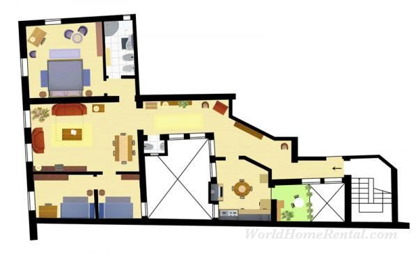 Dossier 5159-Plan of the appartment